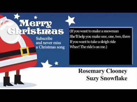 Rosemary Clooney - Suzy Snowflake - Lyrics (Paroles)