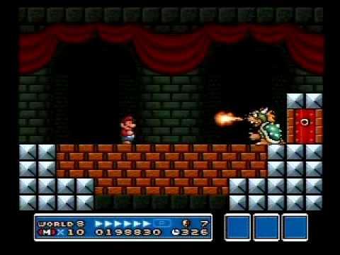 Super Mario Bros 3 Snes Bowser S Castle Speed Run 278