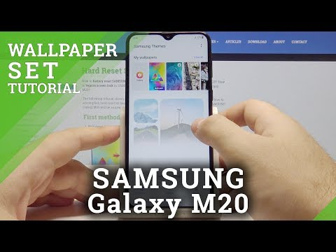 How To Change Wallpaper In Samsung Galaxy M20 Update Lock Screen Style Youtube