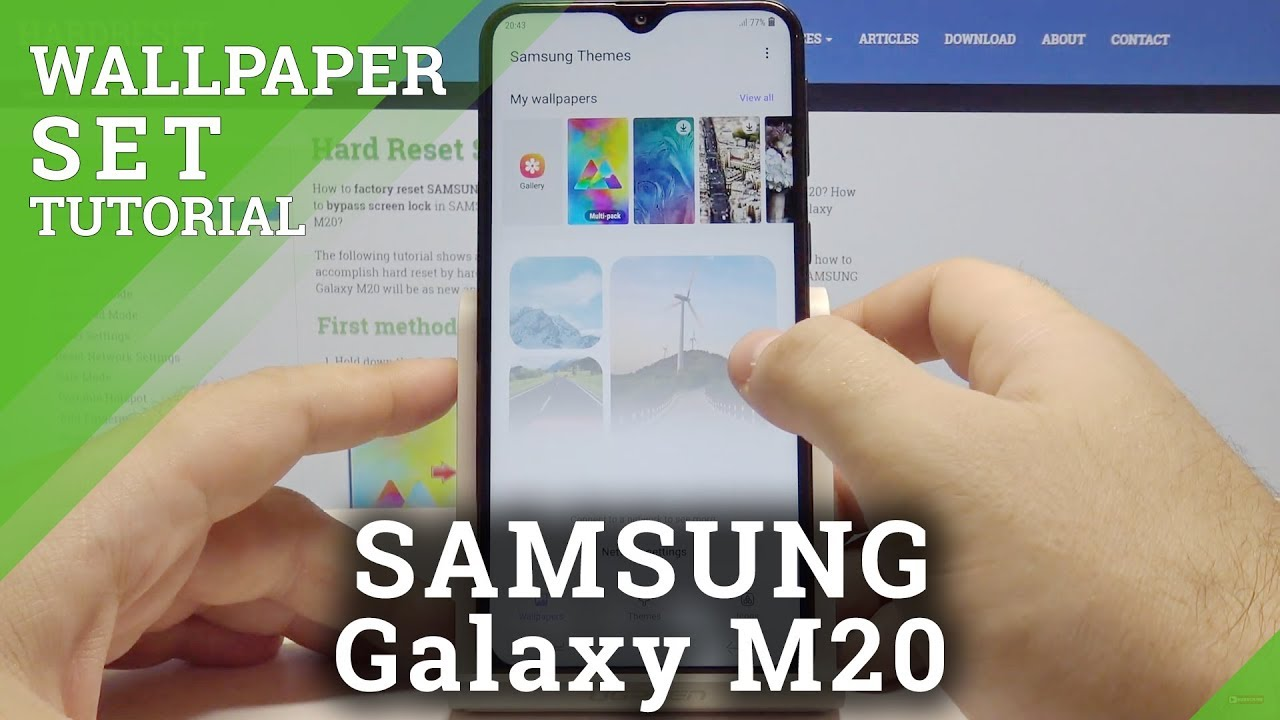 foto de How to Change Wallpaper in Samsung Galaxy M20 – Update Lock Screen ...