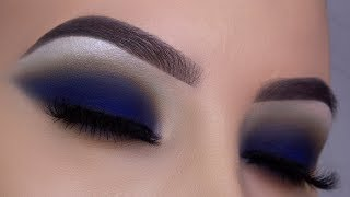Classic Navy Smokey Eyes Tutorial + GIVEAWAY