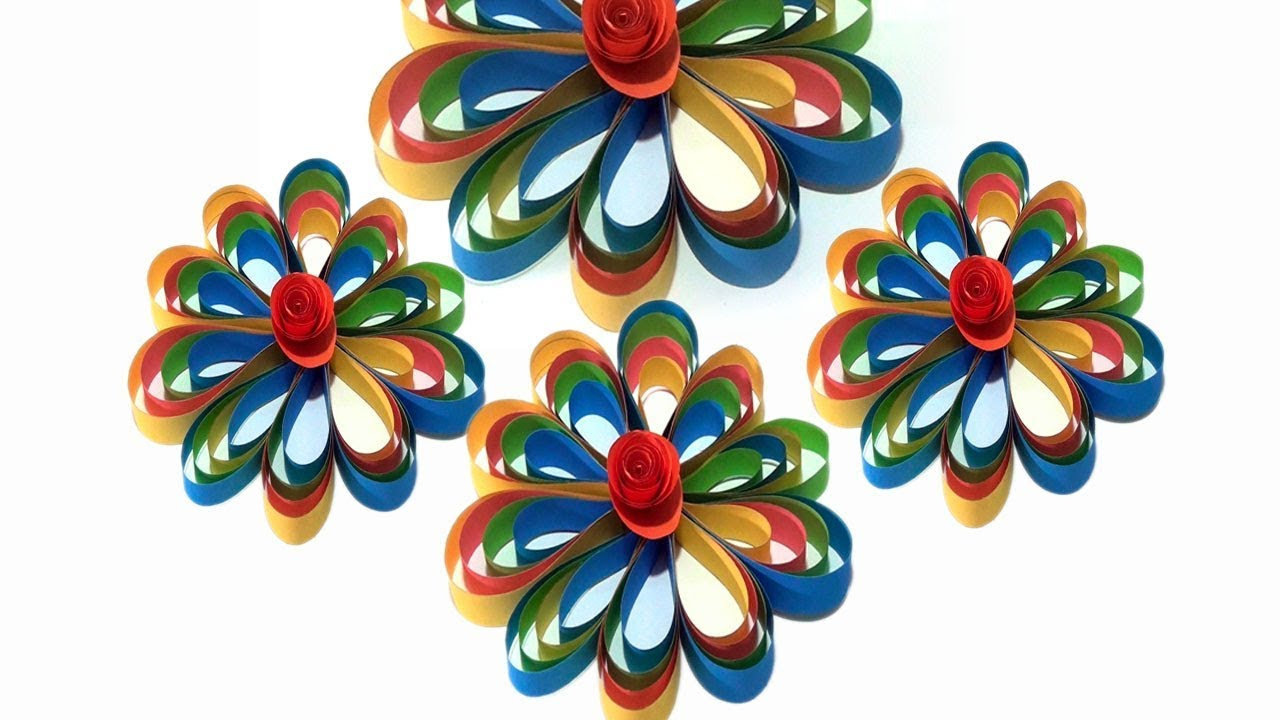 Diy paper craft idea home decor ideas for living room paper paper flower hanging decorations mightylinksfo