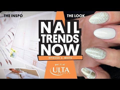 Nail Trends Now - White and Gold Nails - Get It At Ulta Beauty