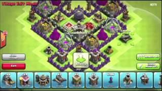 Clash of Clans 4 Mortar Th9 Farming Base New 2014