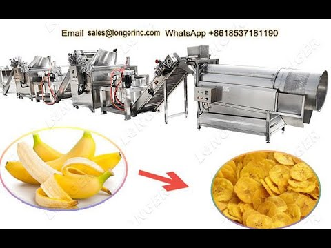Automatic Plantain Chips Production Line Banana Chips Making Machine