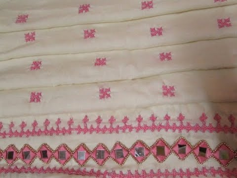 Kutch Embroidery Square Part 3 Youtube