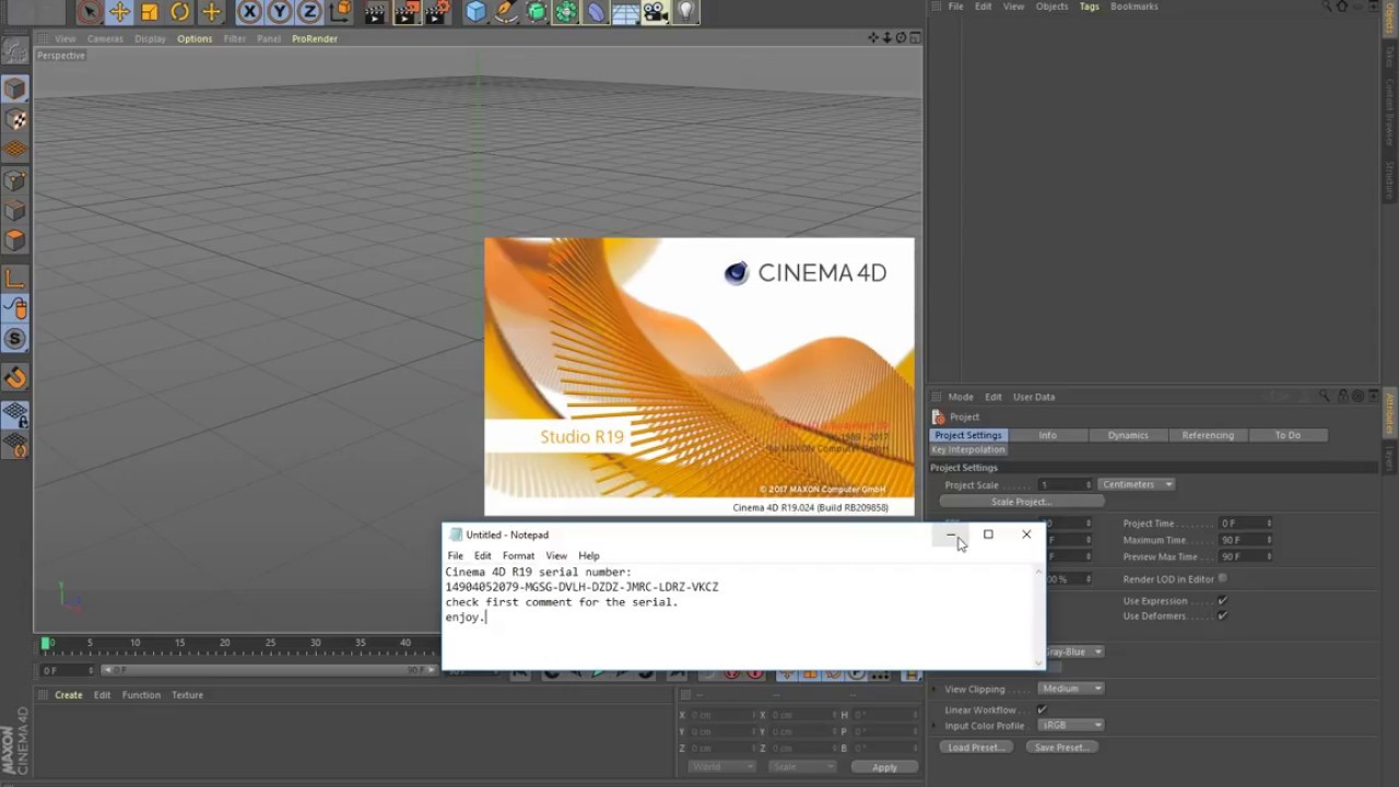 Cinema4D R19 Serial