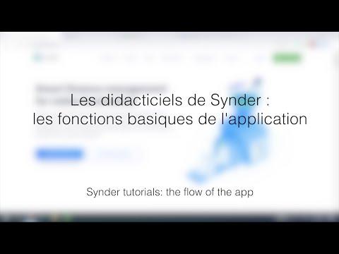 Les didacticiels de Synder: les fonctions basiques de l'application