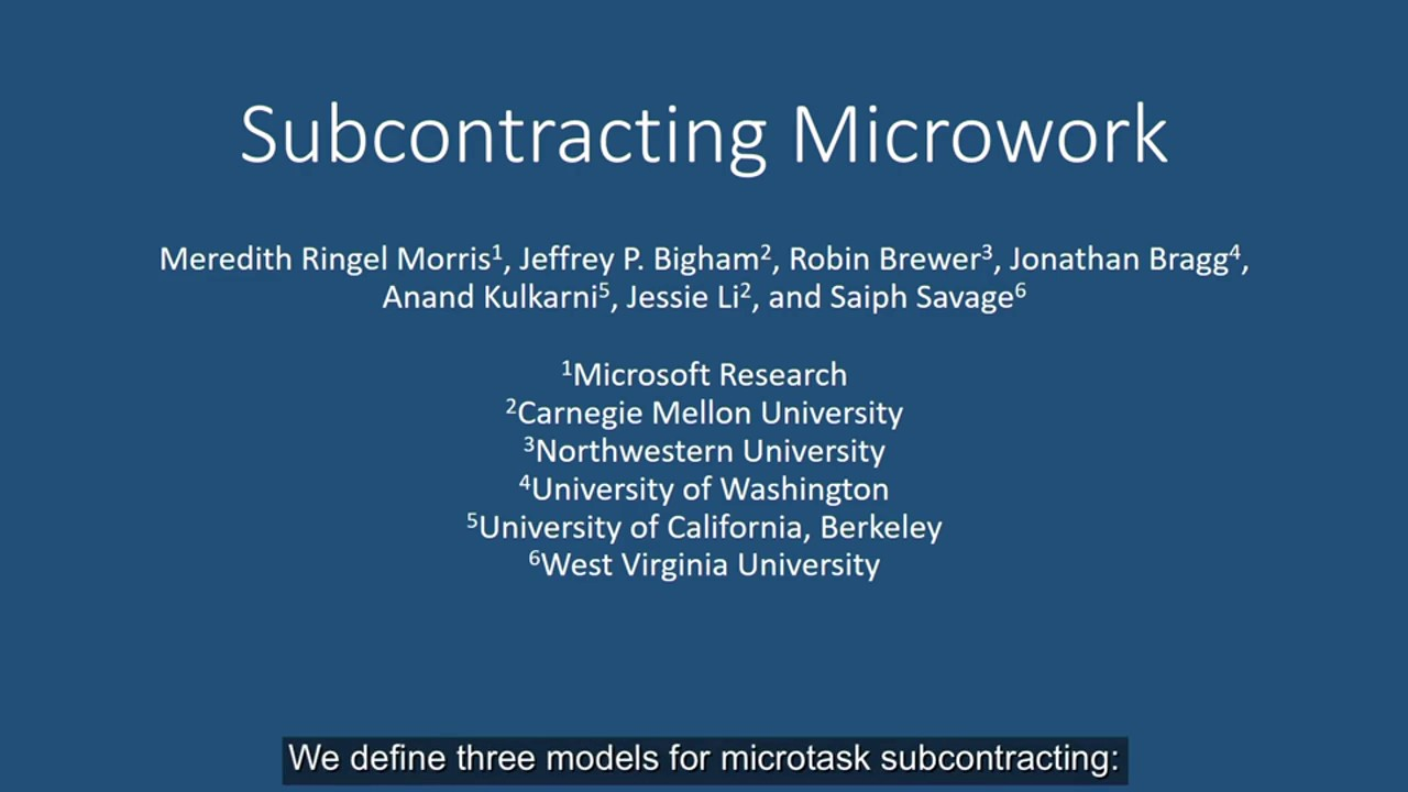 Subcontracting Microwork