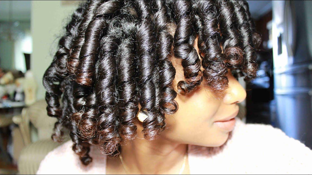 Roller Set On Long Natural Hair