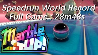 Marble it up! Full Game - Speedrun in 28:48