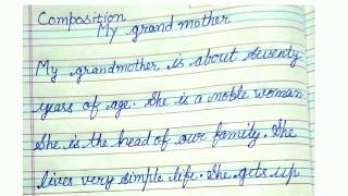 My Grandmother essay in english,short paragraph on grandmother