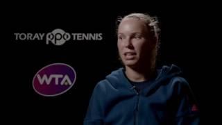 Caroline Wozniacki 2016 Toray Pan Pacific Open Final Interview