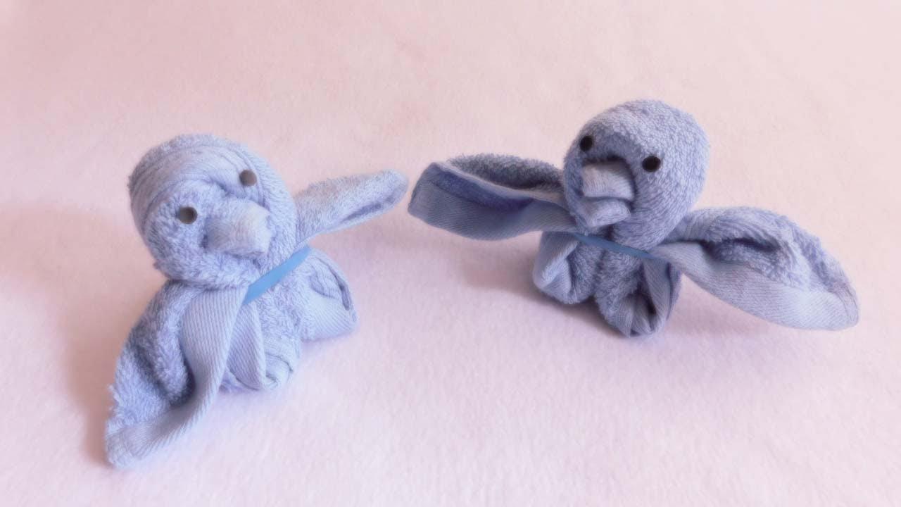 Towel art folding | how to fold washcloth into birds | towel origami | towel folding animal |