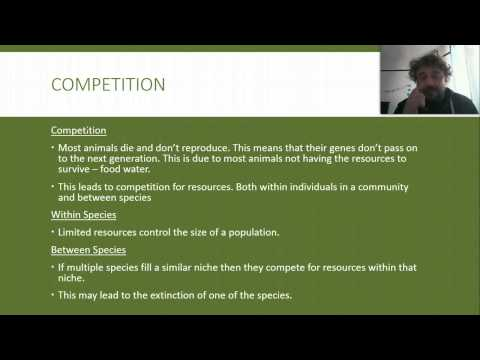 Ecology: 05 Competition, Niches and Adaptations