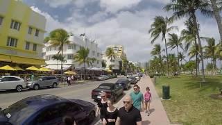 Miami South Beach Walking On Ocean Drive
