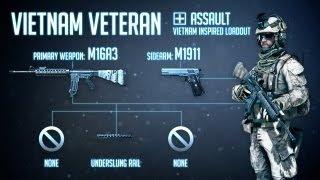 """Vietnam Veteran"" : BF3 Assault Loadout & M16 Gameplay"