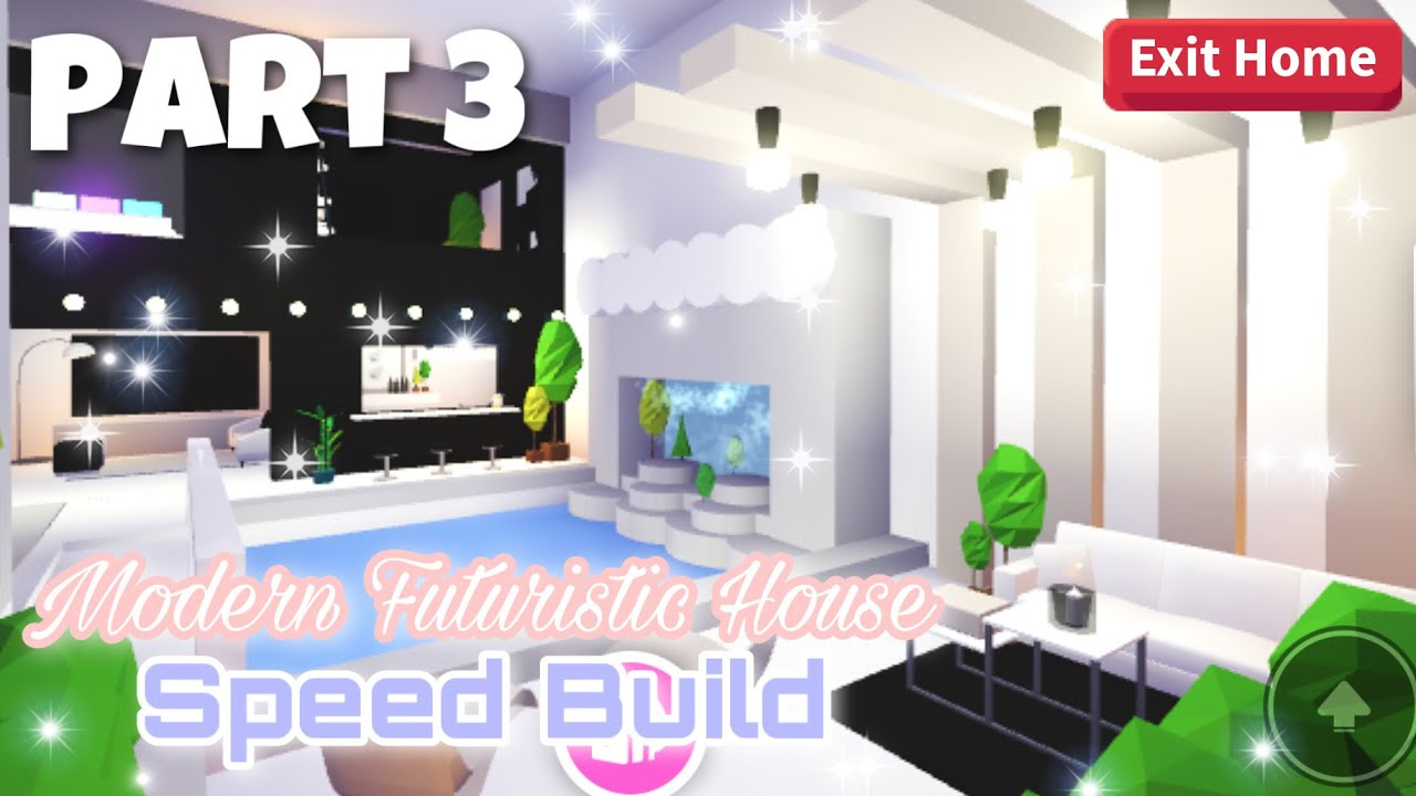 Modern Futuristic House Part 3 Roblox Adopt Me Youtube