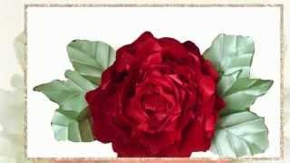 Канзаши. Как сделать цветок розы