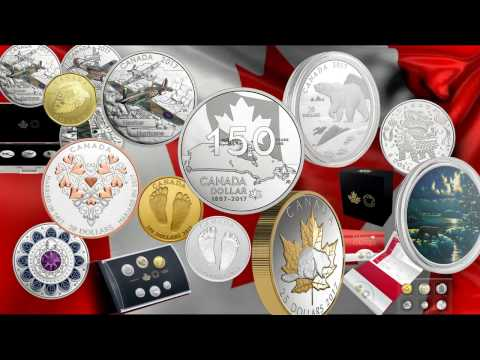 Coins from the Royal Canadian Mint for January 2017