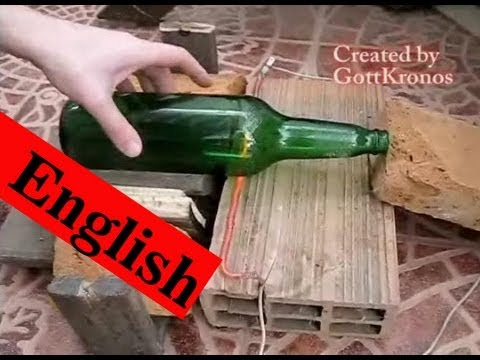 Cut glass bottle easy and quickly way youtube for Easiest way to cut glass bottles