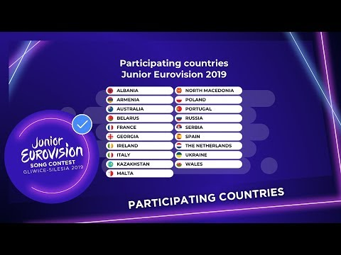 Nineteen Countries Will Participate At The 2019 Junior Eurovision Song Contest!