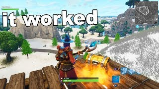 I did a GLITCH to get snow in Fortnite and i got banned...