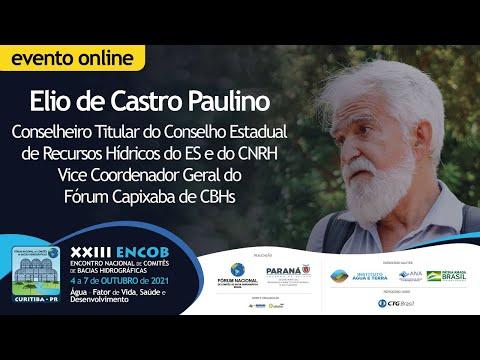 Elio de Castro Paulino apresenta a temática Gestão das Águas Costeiras no XXIII ENCOB