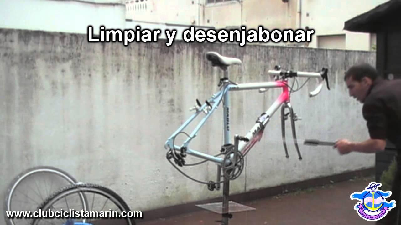 Limpieza y engrase de una bicicleta - YouTube