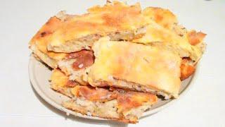 Пирог с рыбой и рисом видео рецепт