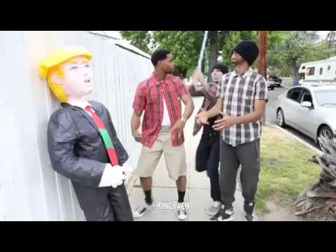 king bach Donald Trump caught in the wrong hood. Crazy Vines World