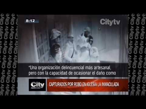 Revelan videos del robo colectivo en iglesia del norte de Bogotá|Citytv