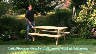 Treated Pine Economy Picnic Table From Cedarstore.com