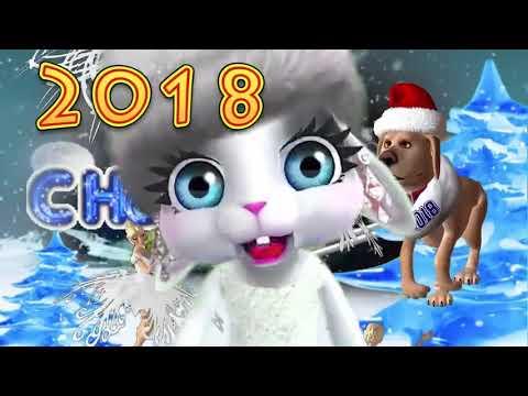Зайка ZOOBE 'Новогодняя песенка- замела метелица...' - Как поздравить с Днем Рождения