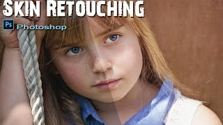 Skin Retouching Frequency Separation in Photoshop