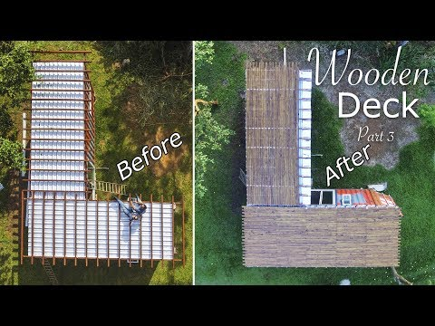 Tiny Shipping Container House Deck - Living Tiny Project Ep. 023 Part 4