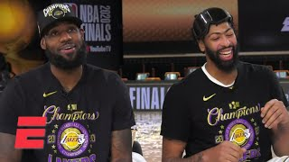 [FULL] LeBron James & Anthony Davis interview following 2020 NBA title win with the Lakers