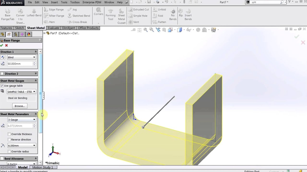 Solidworks Convert Sheet Metal Vs Make Sheet Metal Part
