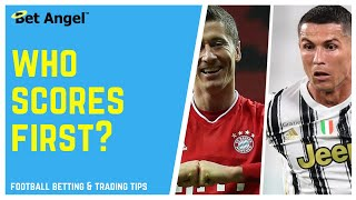 Betfair football trading strategies - Who scores first?