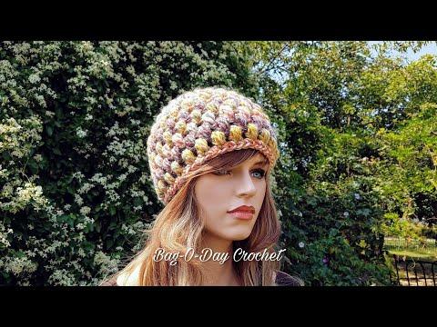 Learn How To Crochet Easy Super Puffed Unisex Beanie Hat Crochet Tutorial #413