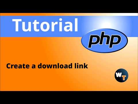 How To Create A Download Link Using Php