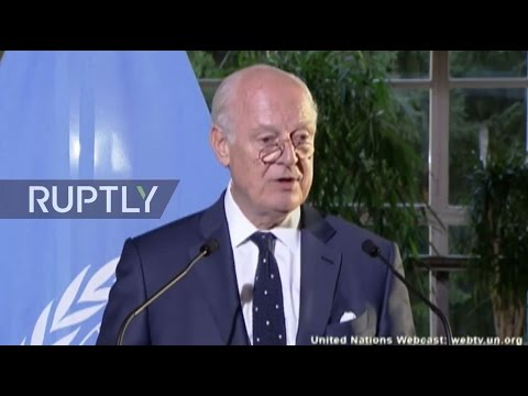 LIVE: UN Special Envoy de Mistura discusses first day of Syria ceasefire