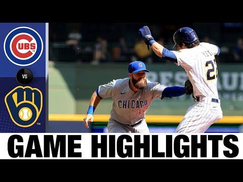 Cubs Vs. Brewers Highlights (9/19/21) | MLB Highlights