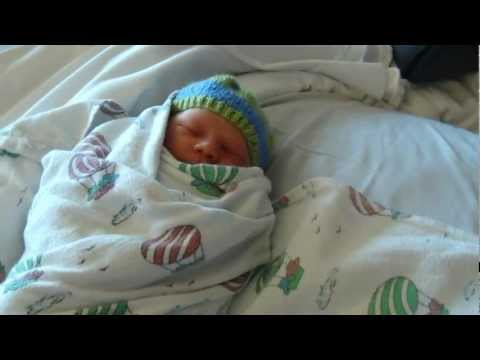 Adorable Big Sister meets Baby Brother for the first time