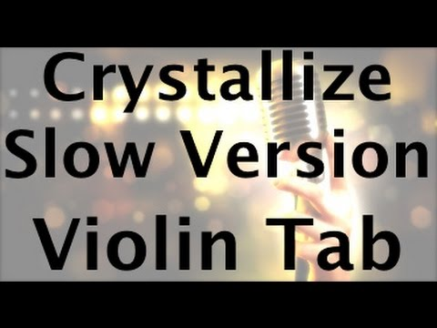 Learn Crystallize by Lindsey Stirling on Violin - SLOW VERSION - How to Play Tutorial