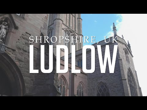 Ludlow: Shropshire, UK: Town, Castle And River.