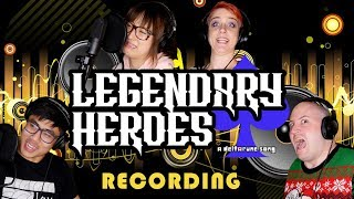 Recording LEGENDARY HEROES: A Deltarune Song (feat. OR3O, Angi Viper, and Genuine)