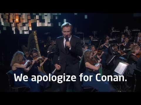 Conan O'Brien sings in Norwegian at the 2016 Nobel Peace Prize Concert