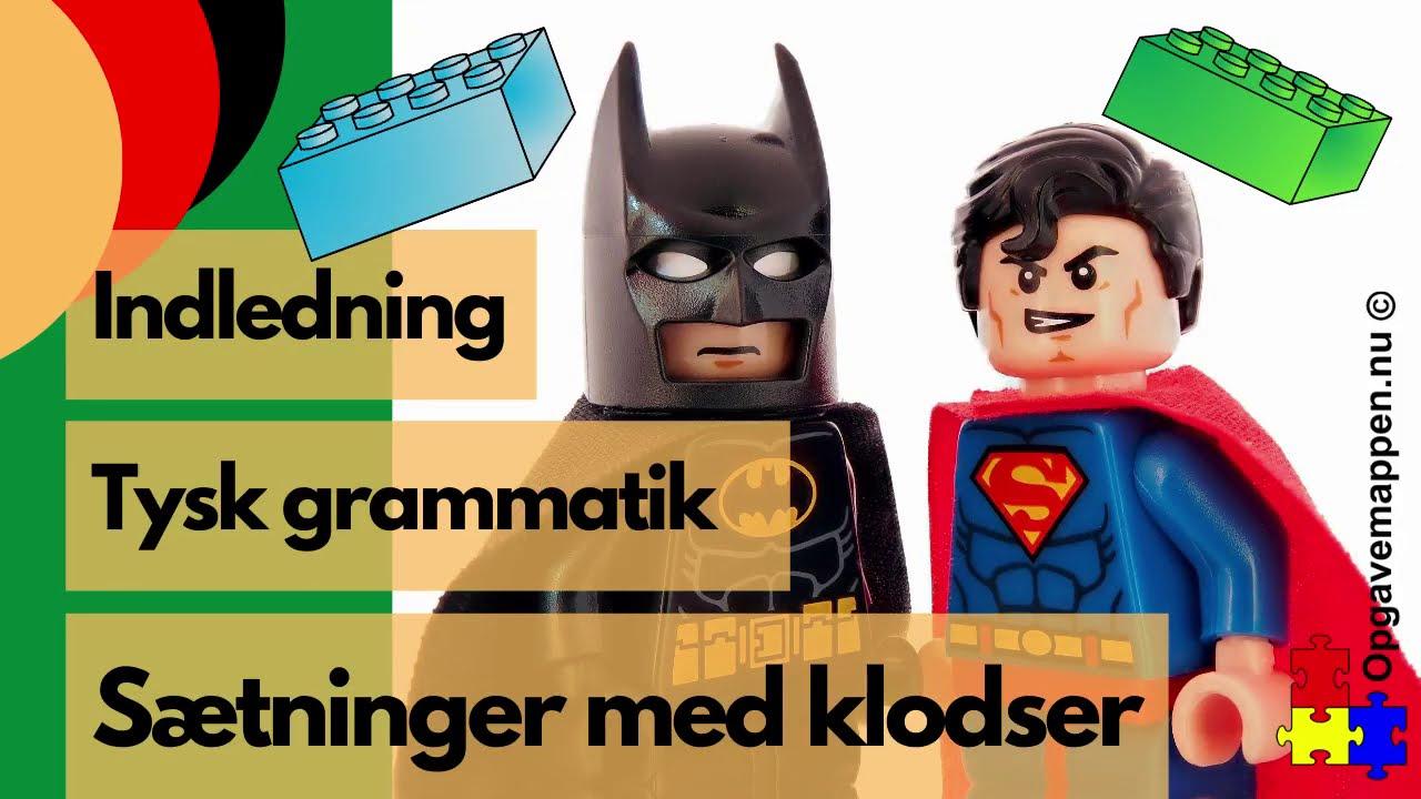 Tysk Grammatik - Sætninger med klodser - indledning - opgavemappen.nu
