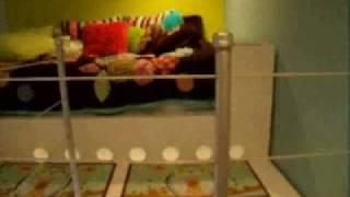 Kids Loft Bed Built From Wood - Boy Or Girls Room